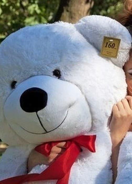 Большой белый плюшевый медведь Нестор 160 см
