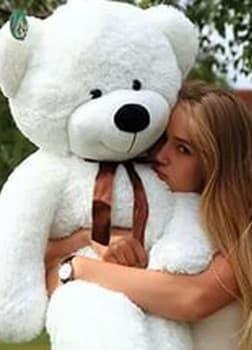 Большой плюшевый медведь Нестор 120 см белый