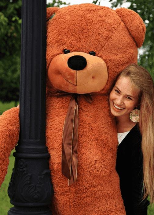 Медведь-игрушка большой Нестор 160 см коричневый