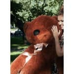 Большой мягкий медведь 160 см Нестор шоколадный