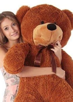 Большой плюшевый медведь Нестор 120 см шоколадный