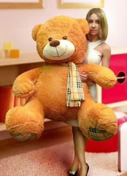 Большой медведь-игрушка Оливер 140 см коричневый
