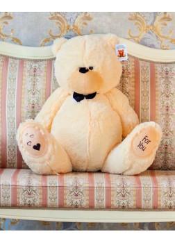 Большая мягкая игрушка Тедди чайная роза 80 см