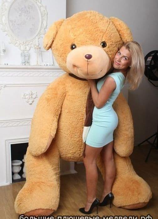Самый большой плюшевый медведь Бруно 210 см коричневый
