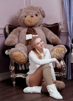 Мягкая игрушка мишка Бруно 170 см шоколадный