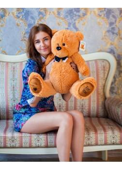 Большая мягкая игрушка Тедди карамельный 80 см