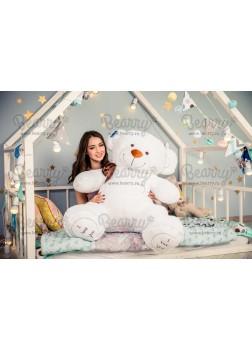 Мягкая игрушка большой медведь I love you 150 см белый