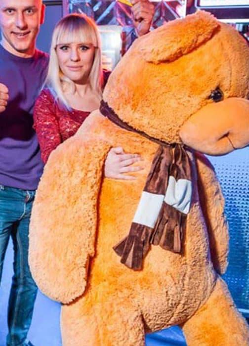 Большой мягкий мишка Бруно 170 см коричневый