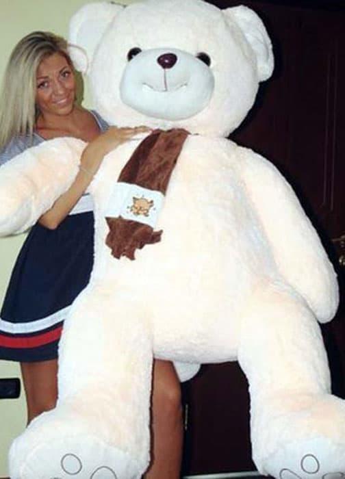 Мягкая игрушка медведь Бруно 170 см жемчужный