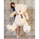 Мягкая игрушка огромный медведь Тедди 190 см бежевый