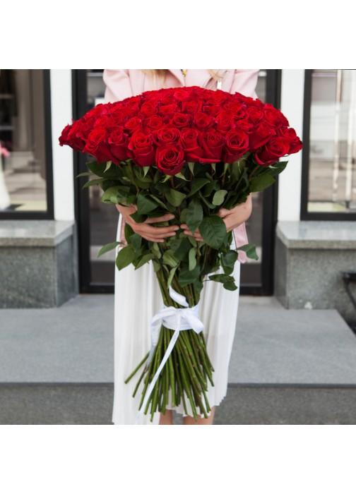 Большой букет роз 101 шт