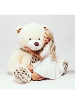 Большая мягкая игрушка медведь Кельвин белый 170 см