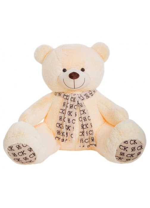 Большая мягкая игрушка медведь Кельвин молочный 170 см