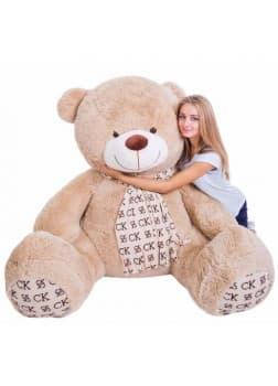 Большая мягкая игрушка медведь Кельвин шоколадный 170 см