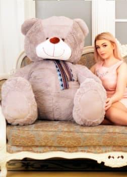 Мишка плюшевый большой Барри 170 см серый