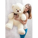 Большой плюшевый медведь тедди Орион 120 см молочный