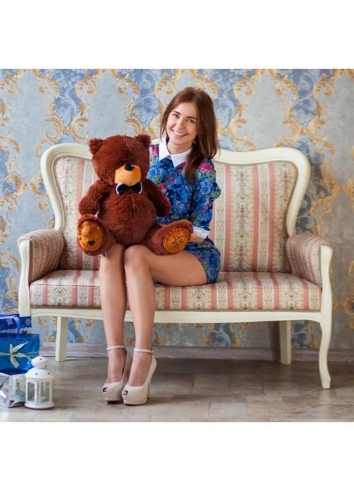Большая мягкая игрушка Тедди бурый 80 см