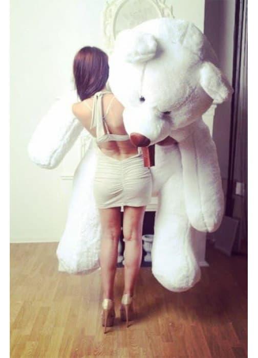 Огромный плюшевый медведь Балу 210 см белого цвета
