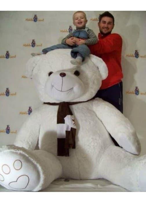 Большой белый медведь игрушка Бруно 210 см