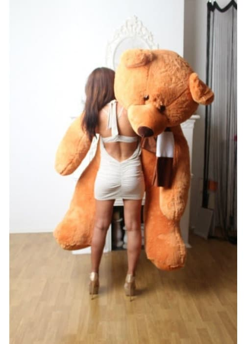 Самый большой плюшевый мишка Балу 210 см коричневый