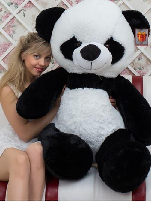 Большой плюшевый Мишка Панда 160 см черно-белый