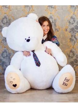 Мягкая игрушка огромный медведь Тедди 190 см белый