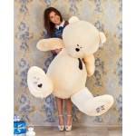 Мягкая игрушка огромный медведь Тедди 190 см чайная роза