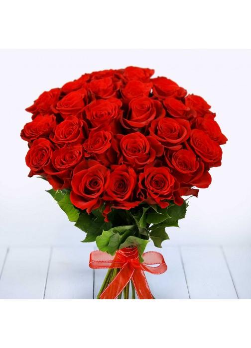 Большой букет роз 25 шт