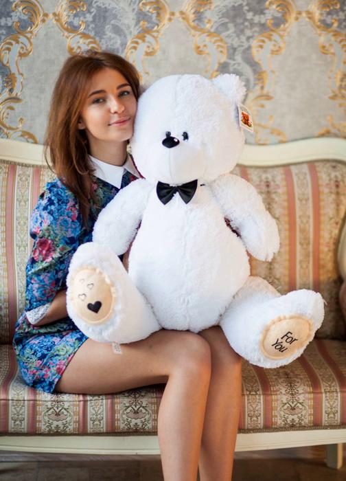 Мишка Тедди 85 см белый