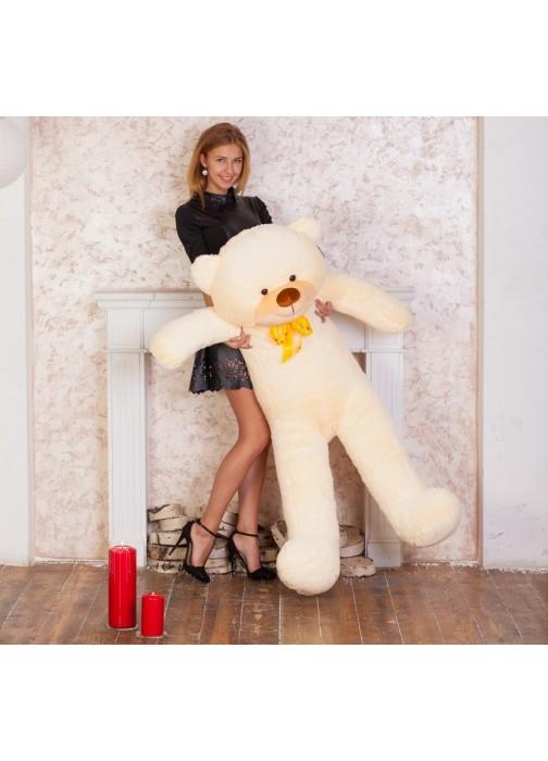 Большой плюшевый медведь Феликс 160 см чайная роза